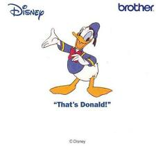 "Brother Embroidery Machine Card PED, Disney ""That's Donald!"" Brand New"