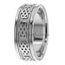 Mens Womens Celtic Wedding Bands Ring 10K Solid Gold Celtic Wedding Bands Rings