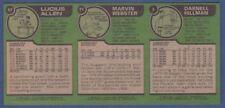 1977-78 Topps uncut proof sheet of 3 blank front: Lucius Allen-Webster-Hillman