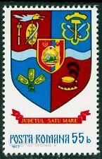 1977 Satu Mare,Dacian wolf war flag,Maramures hat,Coat of arms,Romania,MNH
