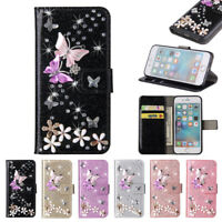 Bling Diamond Flip Leather Wallet Stand Case Cover for iPhone X XS Max XR 8 7 6