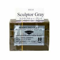 VAN AKEN INTERNATIONAL 10114 PLASTALINA MODELING CLAY SCULPTOR GREY 1LB
