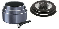 Tefal Ingenio Enamel 7 Piece Saucepan Set with Handle Grey (Non Induction)