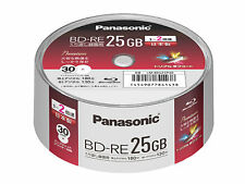 Panasonic NEW 30  Blu ray Discs BD-RE 25GB 2x Speed Made in Japan