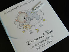 Personalised Handmade Baby Boy Card - Christening, Baby Shower, Birth, Congrats