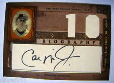 Cal Ripken Jr 05 Leaf Certified Biography Auto 10th HR