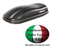 BOX BAULE PORTABAGAGLI TETTO AUTO FARAD MARLIN F3 N8 400LT NERO GOFFRATO