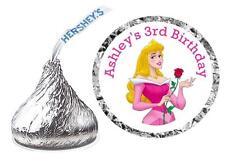 216 PRINCESS AURORA SLEEPING BEAUTY BIRTHDAY PARTY FAVORS HERSHEY KISSES LABELS