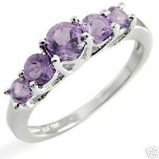 0.80ctw Genuine Amethysts in Solid 925 S/Silver