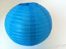 """10 Blue Chinese  Paper Lanterns 8"""" For Wedding or Party"""