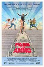 PASS THE AMMO ORIGINAL ROLLED MOVIE POSTER 1988 BILL PAXTON 27x40 COMEDY