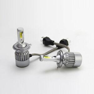 Pair H4 9003 6000K 36W HID LED Headlight Light Kits C6 Cob LED Fog Lamp