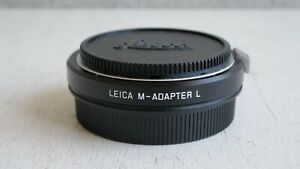 Leica M to L lens adapter 18771 with Leica caps