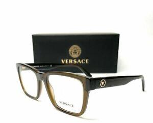 VERSACE VE3285 200 Transparent Green Demo Lens Men's Eyeglasses Frame 55 mm