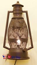 Electric Metal Deer Lantern Night Light