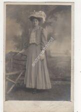 Edwardian Lady In Dress & Hat Venn & Payne Bury Lancashire RP Postcard 693b