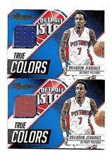 BRANDON JENNINGS 2015-16 PANINI PRESTIGE NBA MATERIALS GAME WORN JERSEY