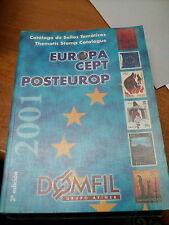 LIBRO EUROPA CEPT POSTEUROP CATALOGO DE SELLOS TEMATICOS DOMFIL 2001 2° EDICTION