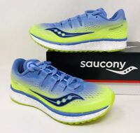 Saucony Womens Freedom ISO Running Sneakers Shoes Purple/Citron Pick A Size