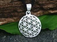 Fleur de vie Pendentif en argent sterling 925 Ø 1,7 cm poli Mandala