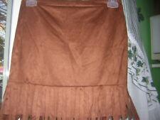 Girls Speechless CognacBrown Fringed Skirt BackZipper Size XL   NWT