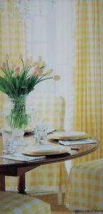 lovemyfabric Gingham/Checkered Polyester Curtain Window Treatment/Decor Panel