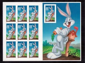 USA 1997 BUGS BUNNY # 3137 SHEET OF 10 MINT NH FACE VALUE IS $4.20 !!!R