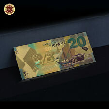 WR Kuwait 20 Dinars Gold Banknote Color Uncirculate World Currency Note for Sale