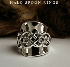 SPOON RING NORWEGIAN SILVER CELTIC KNOT DETAIL THE PERFECT CHRISTMAS GIFT