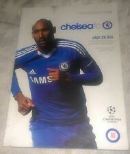 Chelsea fc vs MSK Zilina Official matchday programme 23/11/2010 Champions League