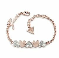 Guess  UBB85102 Heart Bouquet Damen Armband IP Rose  neu