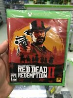ROCKSTAR GAMES RED DEAD REDEMPTION II 2 XBOX ONE FACTORY SEALED