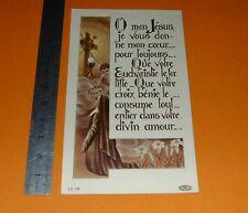 CHROMO 1949 IMAGE PIEUSE CATHOLICISME HOLY CARD PRIERE VOEUX PERPETUELS SOEUR