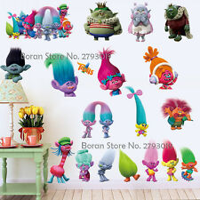 New Cartoon Trolls  Wall Sticker Removable Vinyl Art Decal Kids Decor