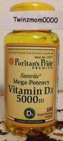 Vitamin D3 5000IU 100 Softgels Bones Teeth Immune Support Super Potency Formula