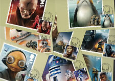 Star Wars 2017: Cancelled PHQ Stamp Maxi Cards Postcards Tallents
