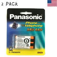 2 pcs Panasonic HHR-P107 3.6V NIMH 650mah cordless Phone Rechargeable Batteries