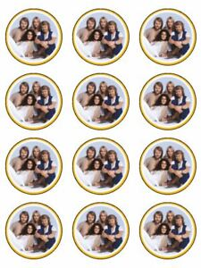 Abba music band singers 70s edible cupcake Toppers Wafer or Icing x 12
