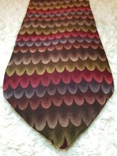 Grateful Dead Alligator Fourth Set Brown Green Burgundy Silk Tie