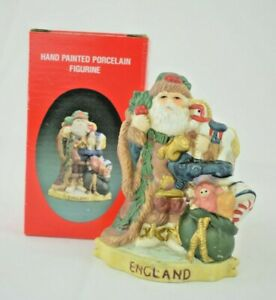 Santa's of the Nations: England - Father Christmas #8901 - Hand Painted Figurine