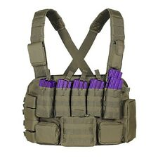 Voodoo Tactical Hunting Chest Rig Vest with Magazine and Utility Pouch Coyote