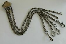 Fantastic Victorian Antique Polished Steel Chatelaine - Housekeeper