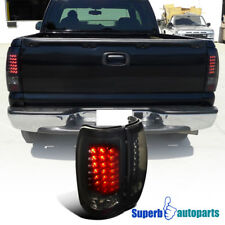 1999-2002 Chevy Silverado/ GMC Sierra LED Tail Brake Lights Glossy Black