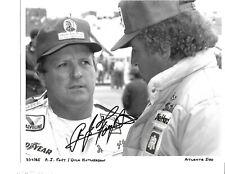 Autographed A J Foyt NASCAR Auto Racing Photograph