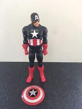 "Marvel Captain America Action Figure Toy Doll Avengers In Black 12""."