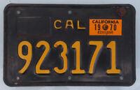 1963 -1970 CALIFORNIA MOTORCYCLE LICENSE PLATE BSA BMW TRIUMPH HARLEY NORTON AJS