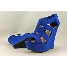 a509742ab05 Madden Girl Wikke Women US 7 Blue Wedge Sandal Blemish 1966