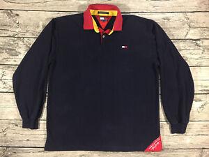 Vintage Tommy Hilfiger Sailing Gear Long Sleeve Polo Shirt Mens XL