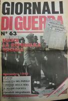 GIORNALI DI GUERRA N.63 NASCE LA REPUBBLICA SOCIALE