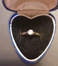 18 CARAT GOLD OLD CUT 0.25 CT DIAMOND RING SIZE N